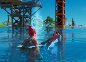 Localização da Prova de Tempo de natação na Doca Desleixada de Fortnite