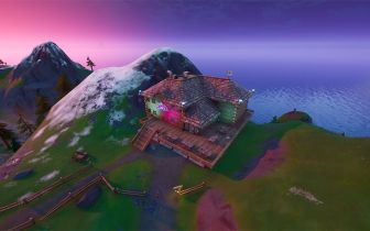 Localização da pista de dança do Esfria Esqui no Fortnite