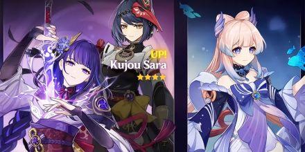 Shogun, Sara e Kokomi serão os novos personagens jogáveis de Genshin Impact; saiba como pegá-las