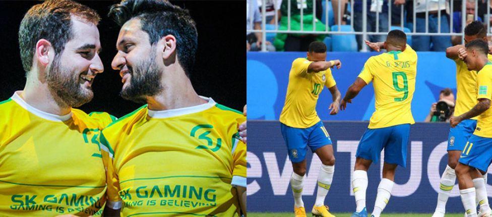 FalleN e fer jogam partida competitiva de CS:GO ao lado de Philippe Coutinho e Casemiro