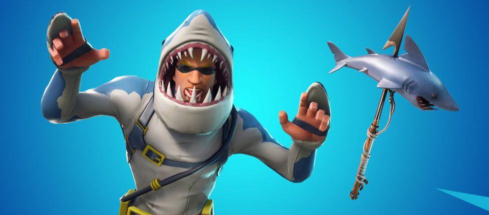 Confira os novos cosméticos com tema de tubarão em Fortnite