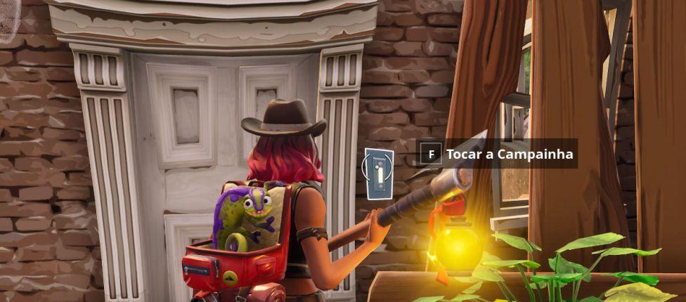 Como completar a missão: Toque a Campainha de uma casa com um oponente dentro dela no Fortnite