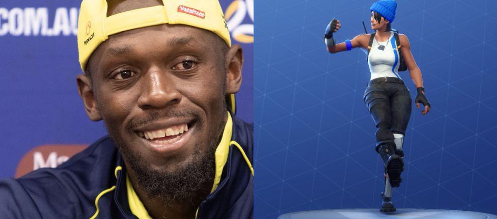 Usian Bolt comemora gol com dança de Fortnite