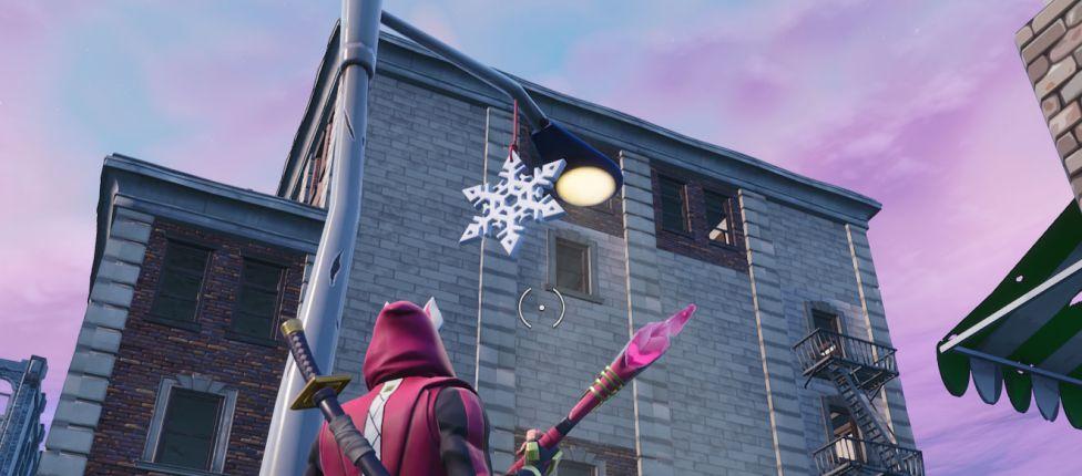 Localização das Decorações de Floco de Neve no Fortnite