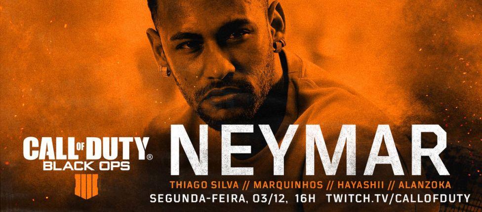 Com Thiago Silva, Marquinhos e streamers, Neymar fará transmissão ao vivo de CoD: Black Ops 4