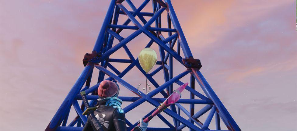 Localização dos Balões Dourados no Fortnite