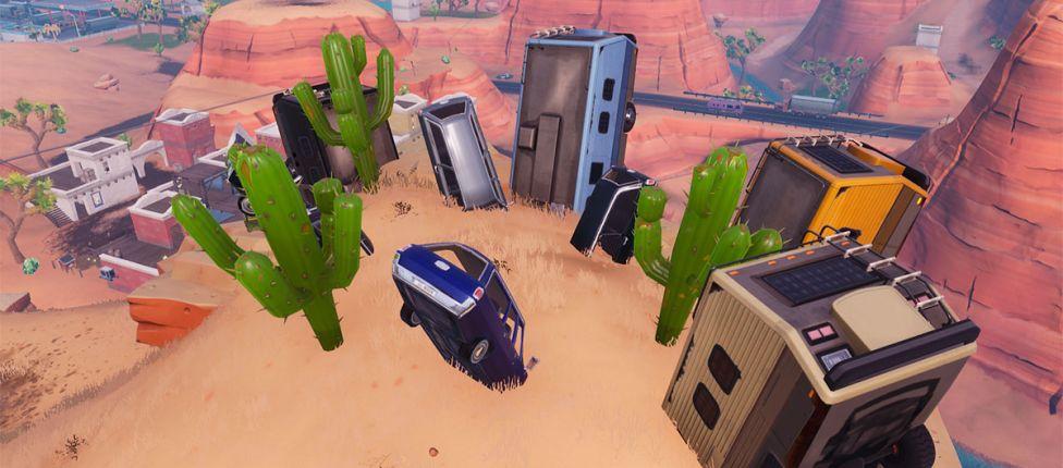 Mapa dos desafios da Semana 6 da Temporada 7 de Fortnite