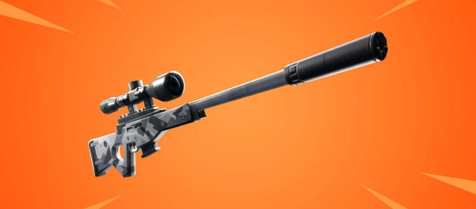 Rifle de Precisão de ferrolho com supressor é anunciado para o Fortnite