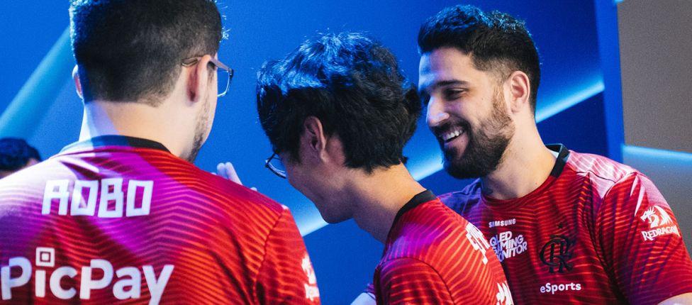 """Na """"prévia"""" da semifinal, Flamengo vence CNB e termina primeira fase do CBLoL com 20 vitórias e 1 derrota"""