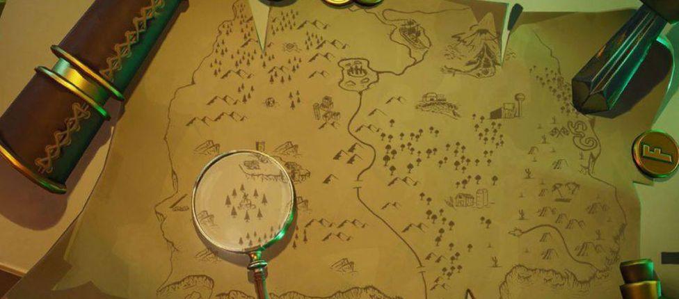 Como completar o desafio: Vasculhe no local da lupa na tela de carregamento mapa do tesouro no Fortnite