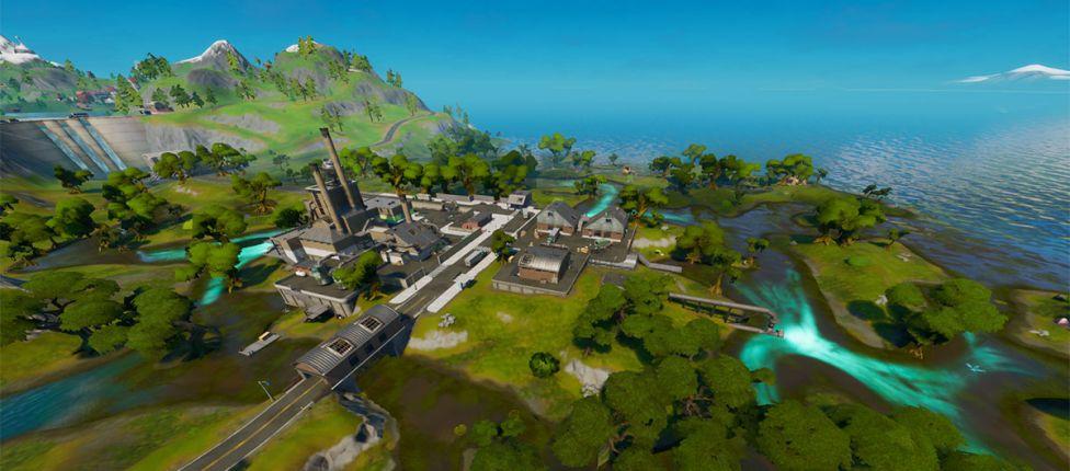 Mapa das missões descolada x chique no Fortnite