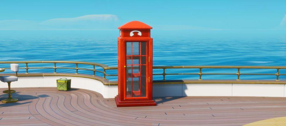 Localização das cabines telefônicas no Fortnite