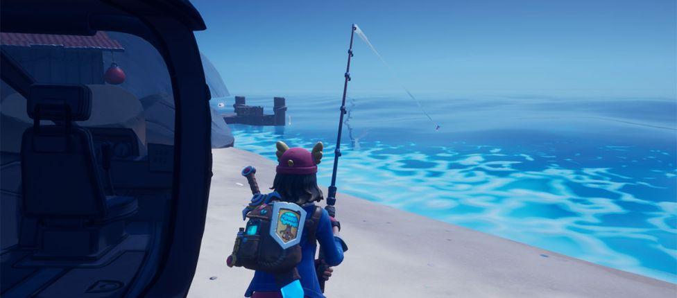 Como pescar um peixe ao usar um Choppa no Fortnite