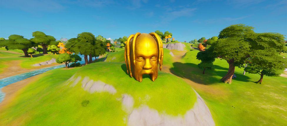 Localização das cabeças de Astro gigantes no Fortnite