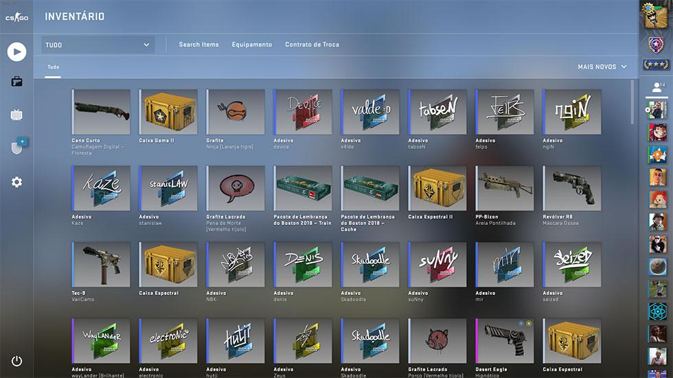 Novo inventario CS GO