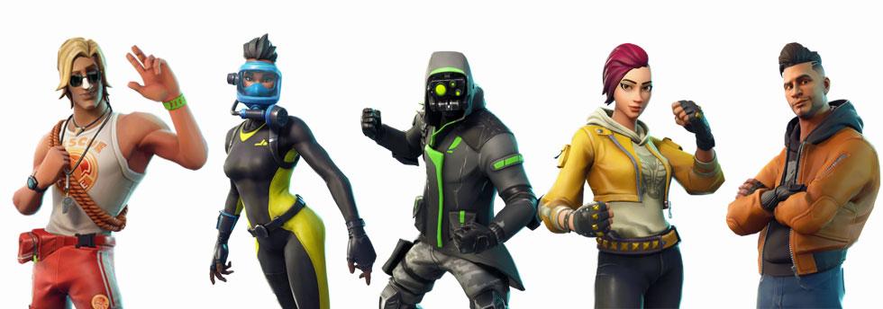 Novas skins de personagem (Imagem: Reprodução)