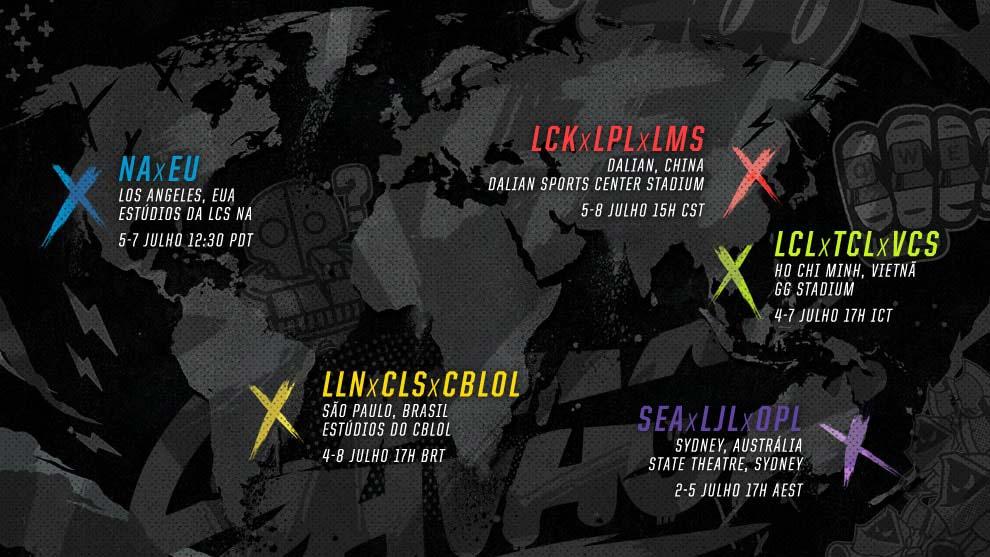 Evento mundial coloca regiões rivais para se enfrentarem. . (Imagem: Riot Games/ lolesports.com)