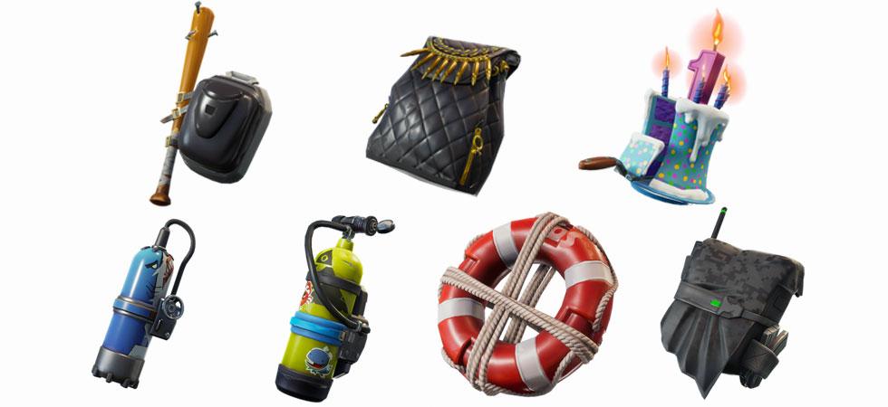 Novas skins de mochila (Imagem: Reprodução)
