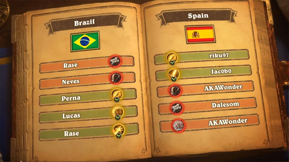 Seleção brasileira saiu atrás, mas se recuperou e buscou a vitória (Imagem: Blizzard/Reprodução)