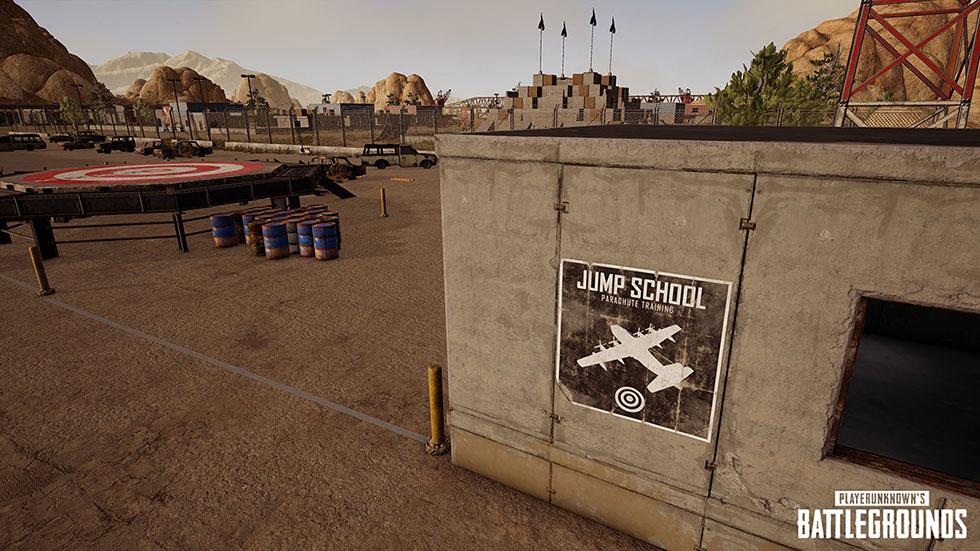 Área para treinar a queda com o paraquedas (Imagem: PUBG Corp/Reprodução)