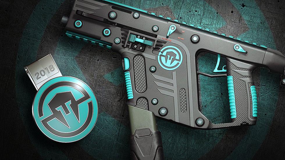 Skin da Immortals para a Vector .45 ACP da Mira (Imagem: Ubisoft/Reprodução)