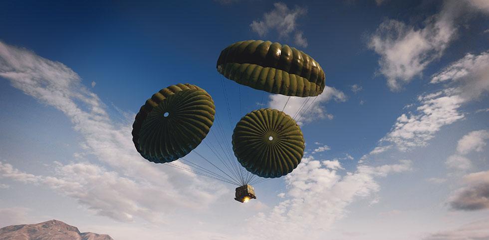 Airdrops da Flare Gun são mais chamativos (Imagem: PUBG Corp/Reprodução)