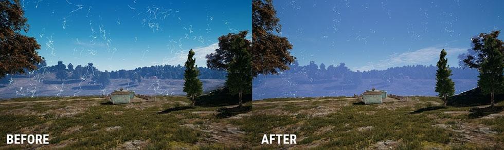 Antes e depois das mudanças na BlueZone no mapa Erangel (Imagem: PUBG Corp)