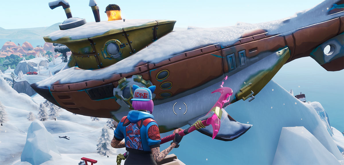 Submarino no Fortnite