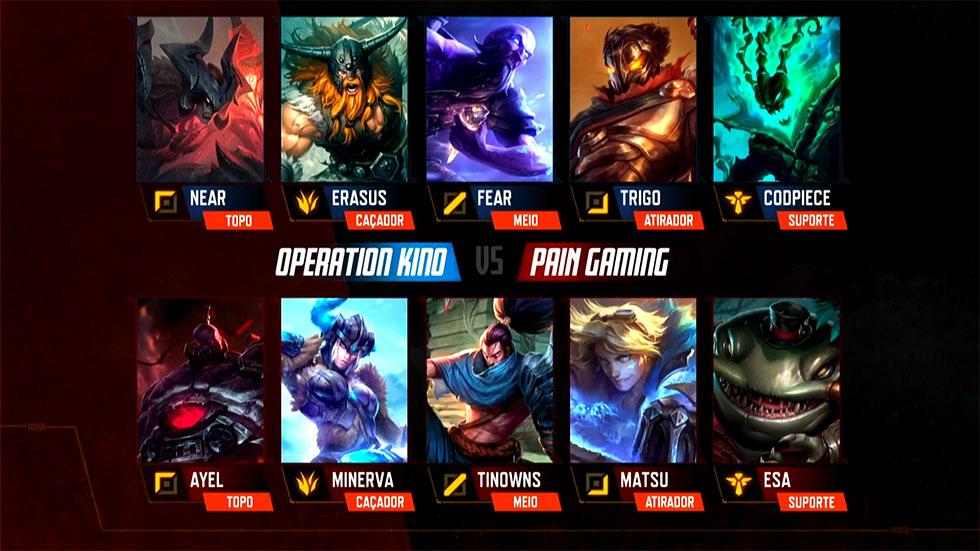 Composições das equipes (Imagem: LoLeSportsBR)