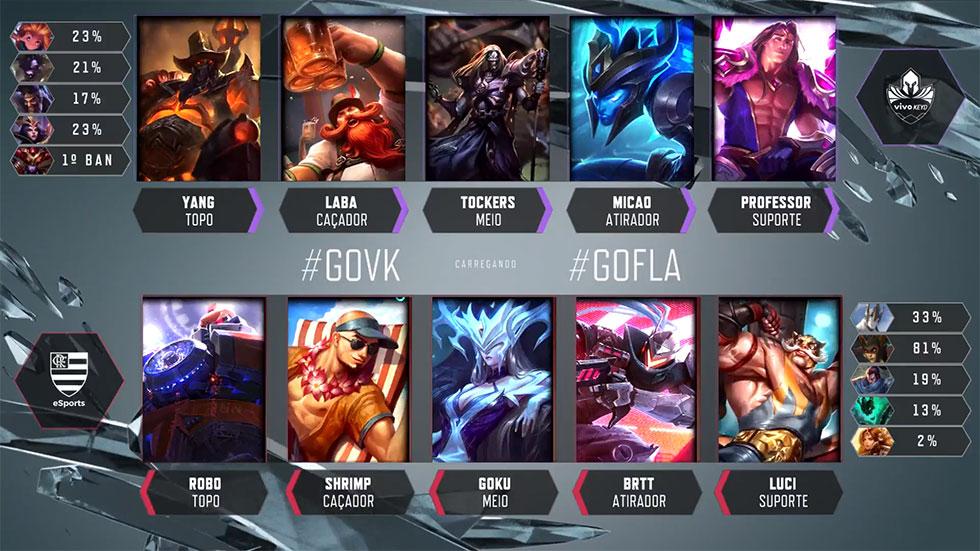 Picks e bans do confronto (Imagem: LoLeSportsBR)