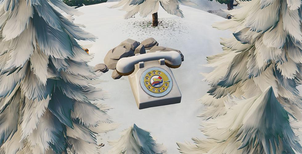 Telefone gigante dos Campos Fatais