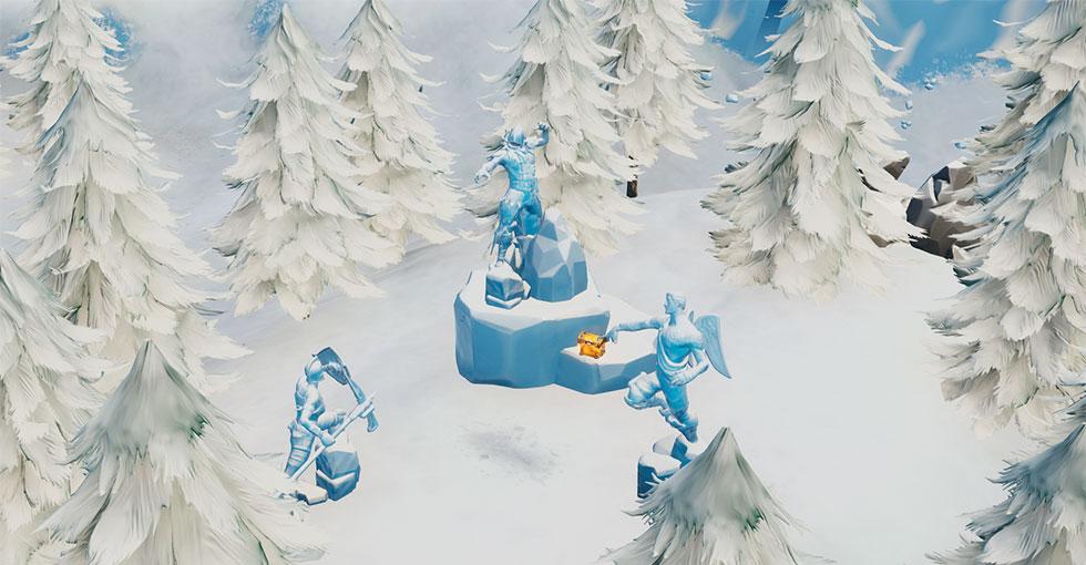 Três Escultura de Gelo no Fortnite
