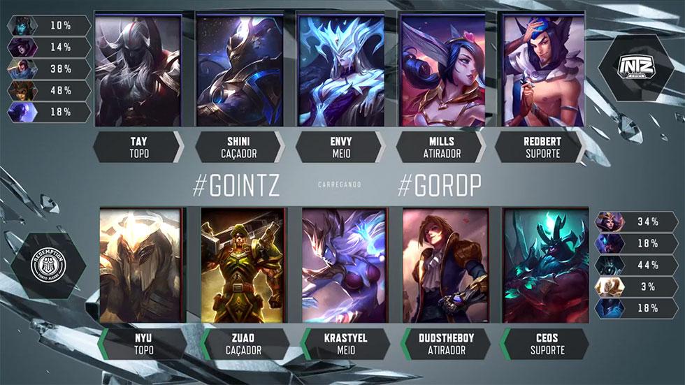 Picks e bans do jogo 4 (Imagem: LoLeSportsBR)