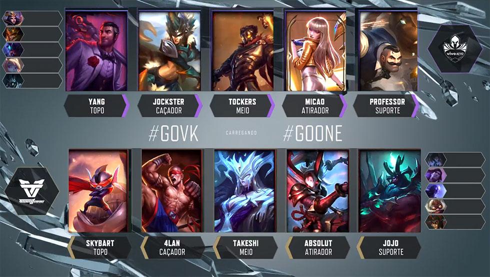 Picks e bans do jogo 1 (Imagem: LoLeSportsBR)