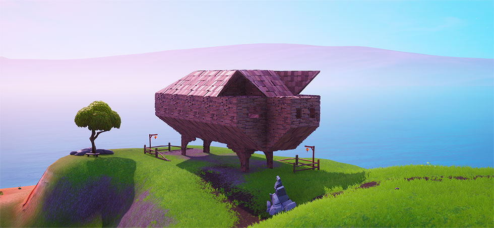 Porco de Pedra no Fortnite