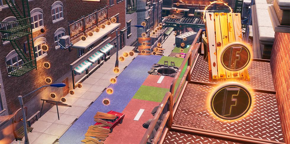 Moeda no modo Centro da Cidade no Fortnite