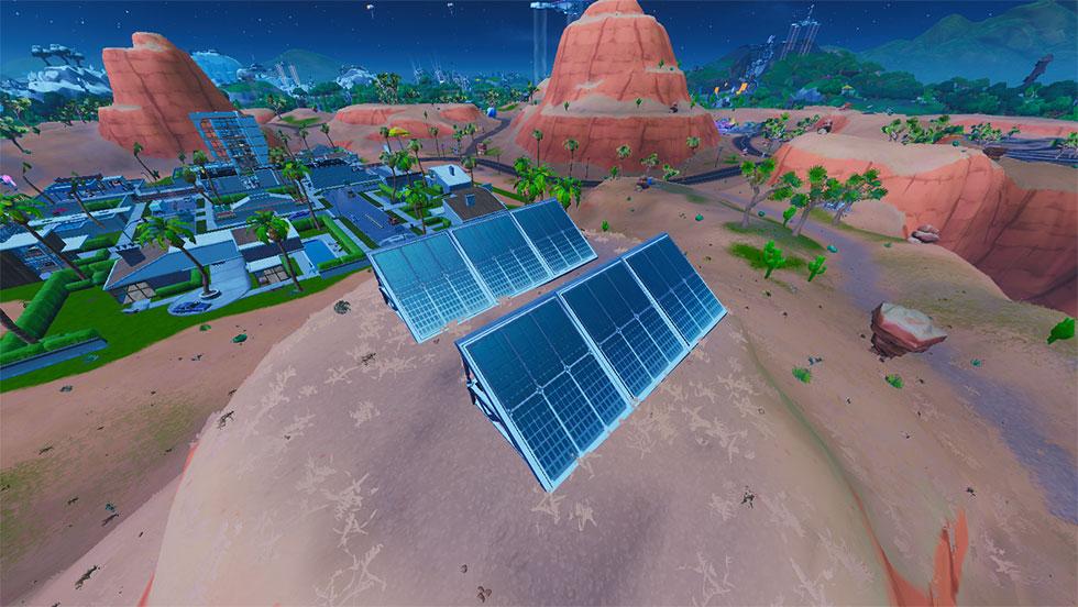 Painel Solar no deserto no Fortnite