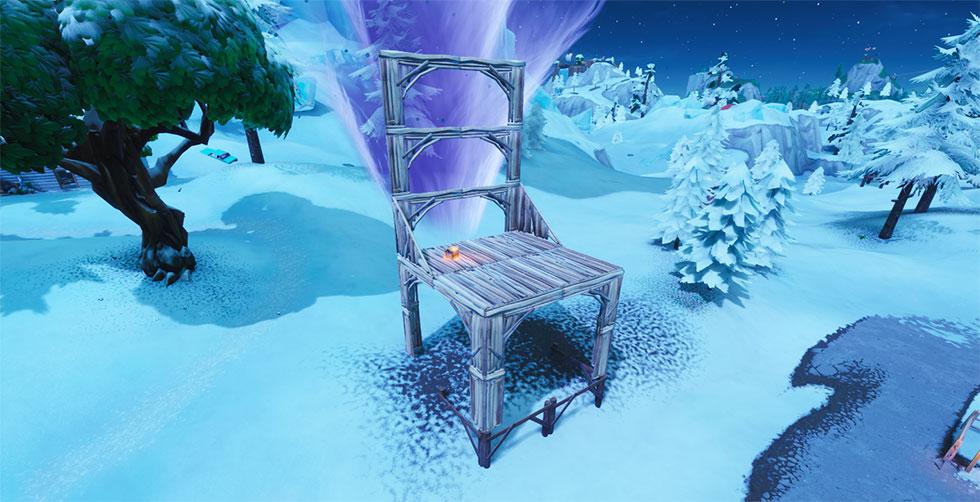 Assento para gigantes no Fortnite