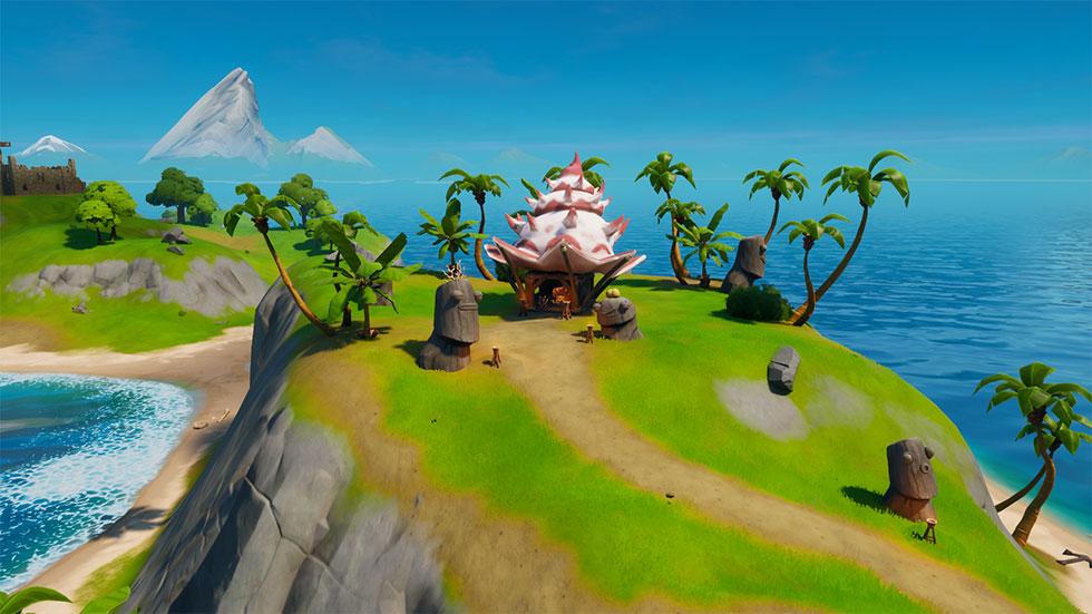 Côncavo do Coral está localizado em uma das pequenas ilhas do jogo