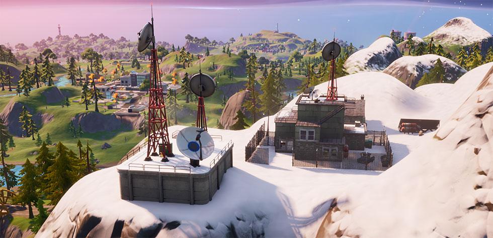 Estação Meteorológica está localizada nas montanhas cobertas por neve