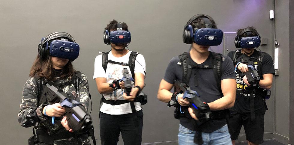 Jogos podem ser jogados por até 4 jogadores (Foto: Gravity VR/Reprodução)