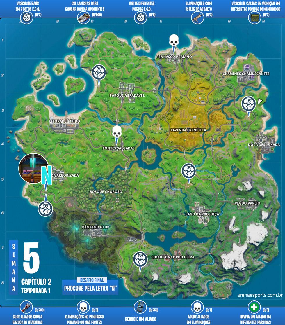Mapa dos desafios A Verdade