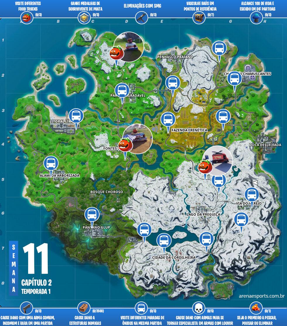Mapa das missões Medicina x Toxina