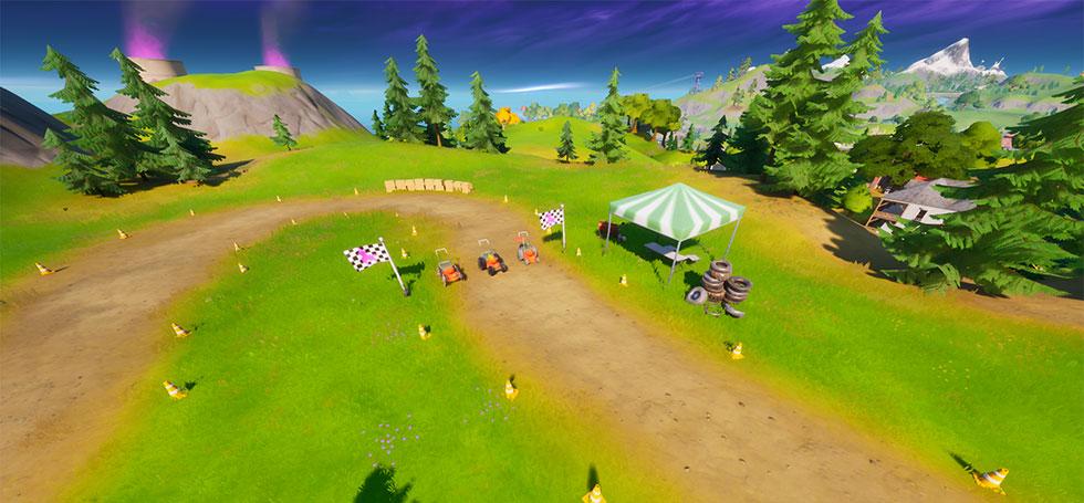Corrida de cortador de grama é a única pista do jogo