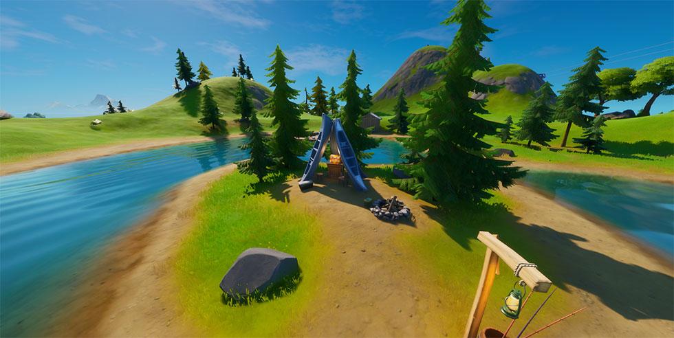 O lago da canoa já foi utilizado em diversos desafios