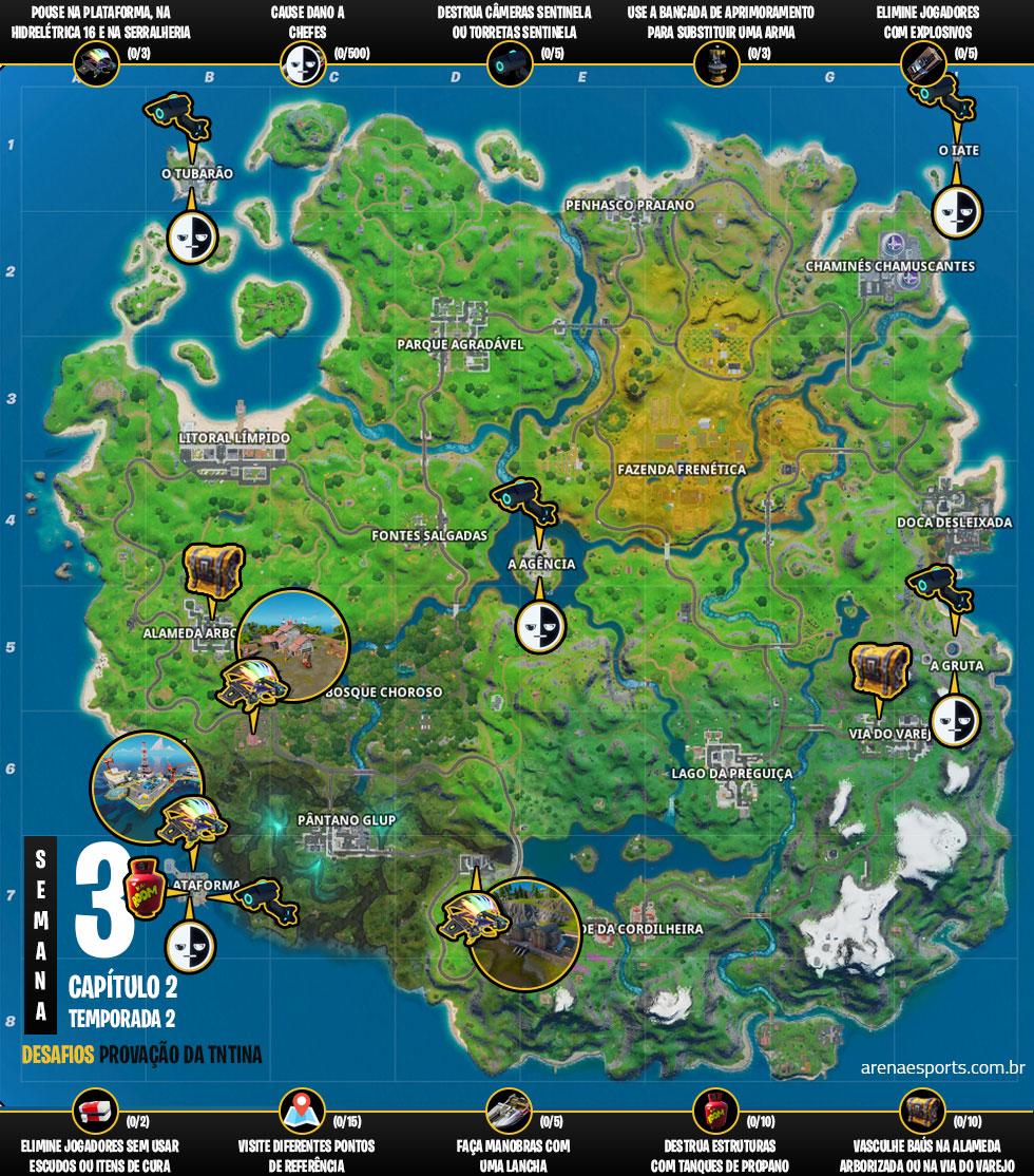 Mapa das provações da TNTina