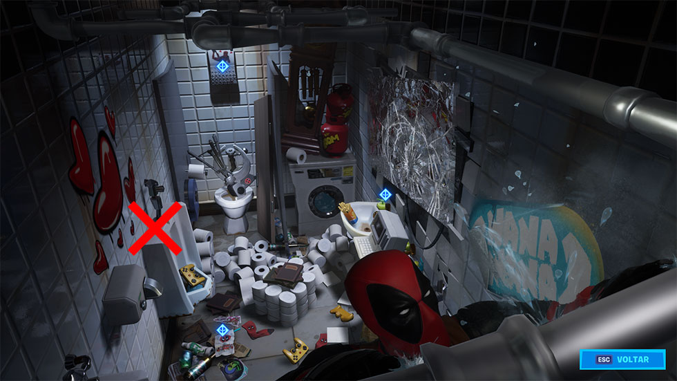 Caixa de leite está no esconderijo do Deadpool