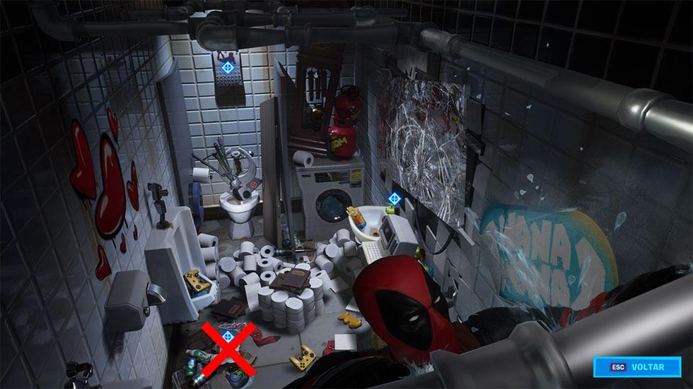 Carta do Deadpool para a Epic Games