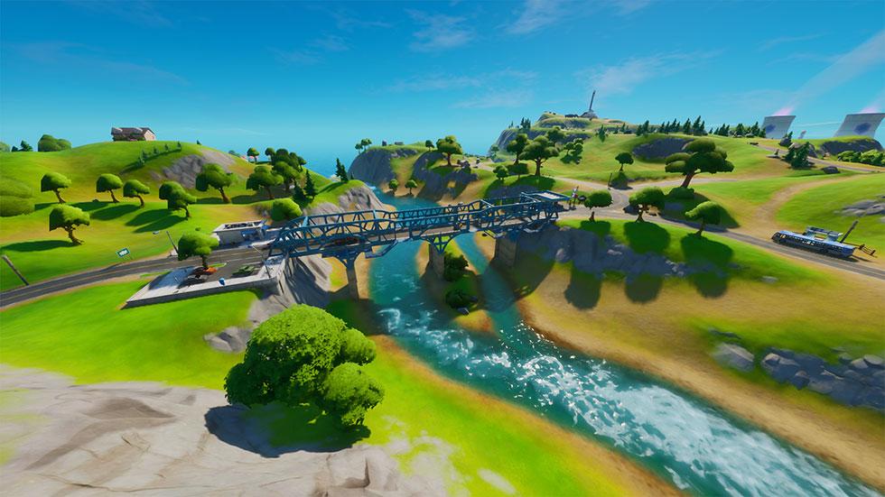 Ponte de aço azul