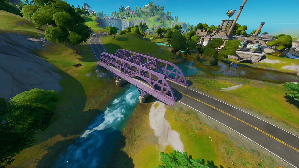 Ponte de aço roxa